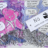Not in the Pink - pink-bear-head_postcard_001
